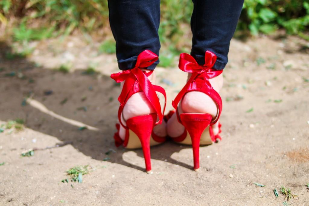 tendecias, como combinar un zapato rojo, jessica sanchez,