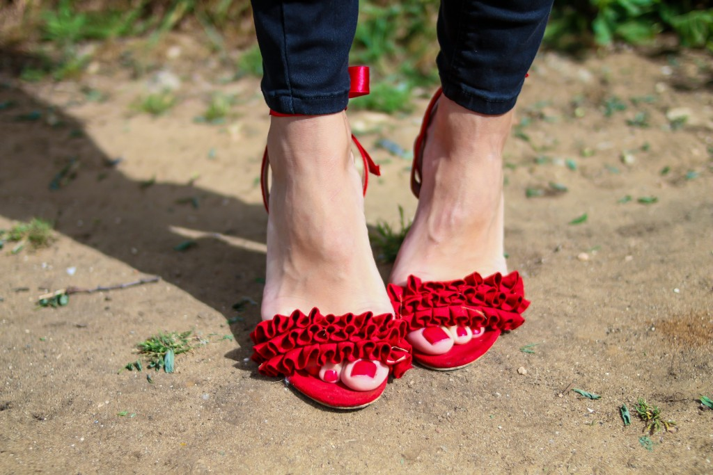 zapatos rojos, volantes, jessica sanchez,asesora de imagen,