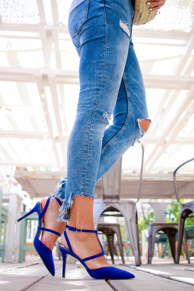 tendencias primavera verano 17, jessica sanchez, blog de moda, ponte guapa,zapatos azules,