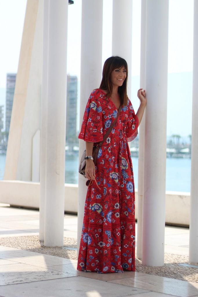 blog de moda, jessica sanchez, vestidos largos, estampados de flores,como combinar,