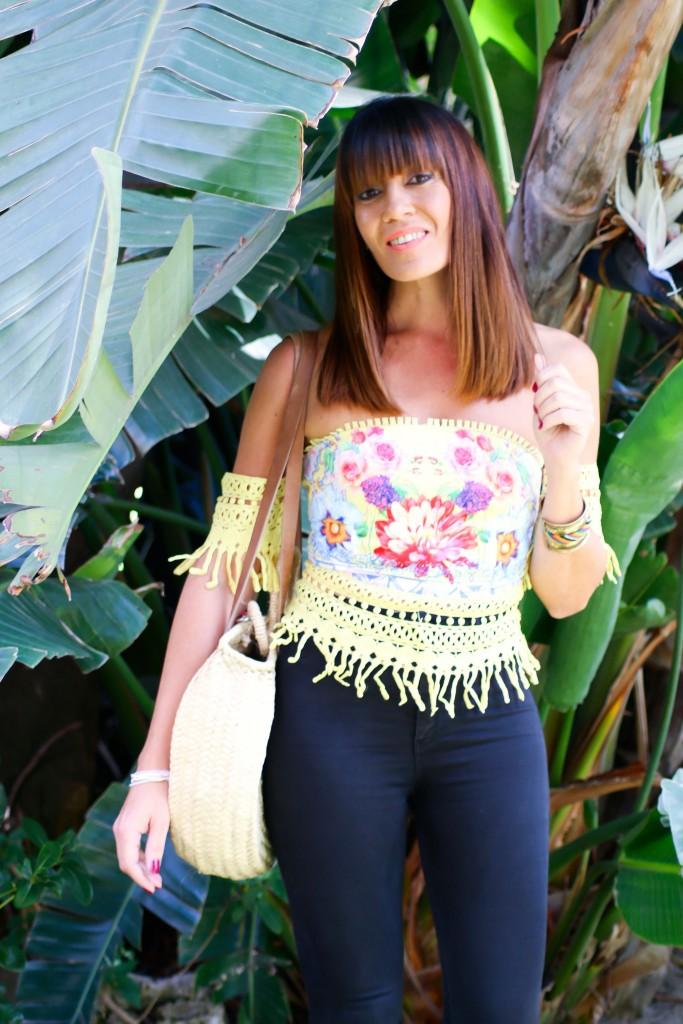 jessica sanchez, corte midi, blog de moda, tendencias, top estampado, asesora de imagen,