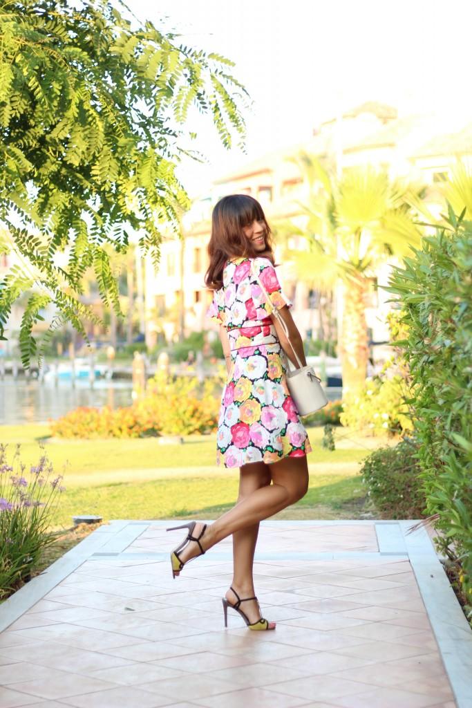 jessica sanchez, blog de moda, vestido evade, estampados,